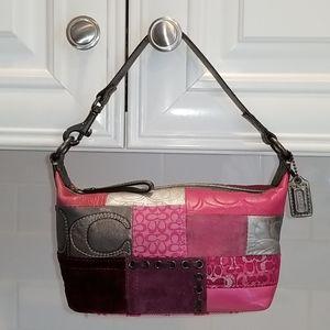 Coach Patchwork Pink/Silver Mini Hobo Bag